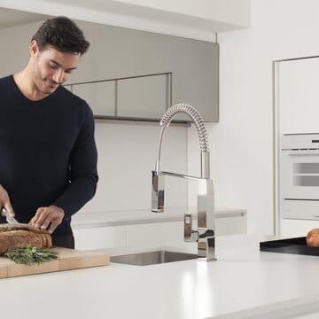 Presentación de la gama de grifos de cocina Grohe Eurocube